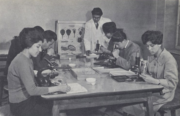 Afghan women studying biology in the 1950's before the Taliban takeover