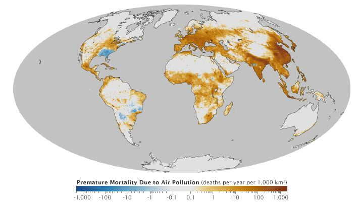 Air Pollution Global Map of Deaths