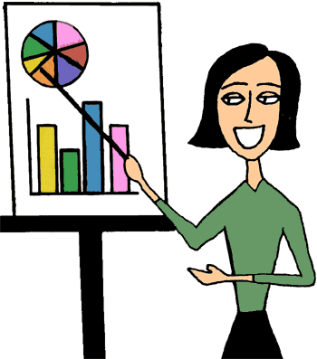 Women doing Presentation with Charts and Graphs