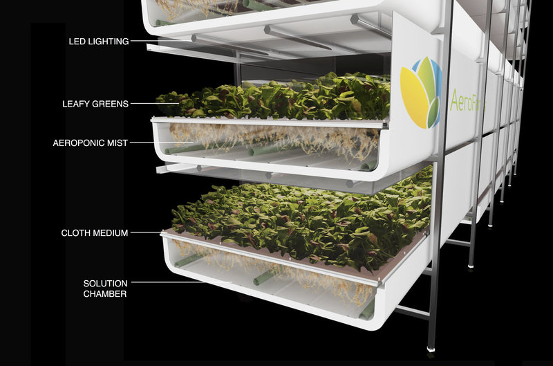 Aero Virtical Farming Trays Stacked