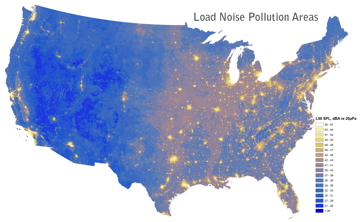Noise Pollution Map of America