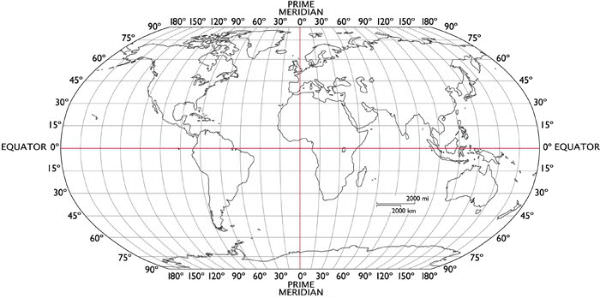 Longitude and Latitude Earth Graph