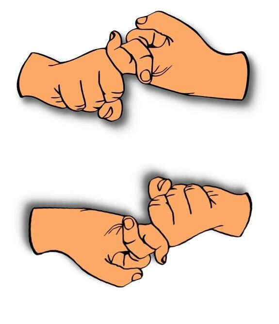 Sign Language Hand Symbols for Friendship