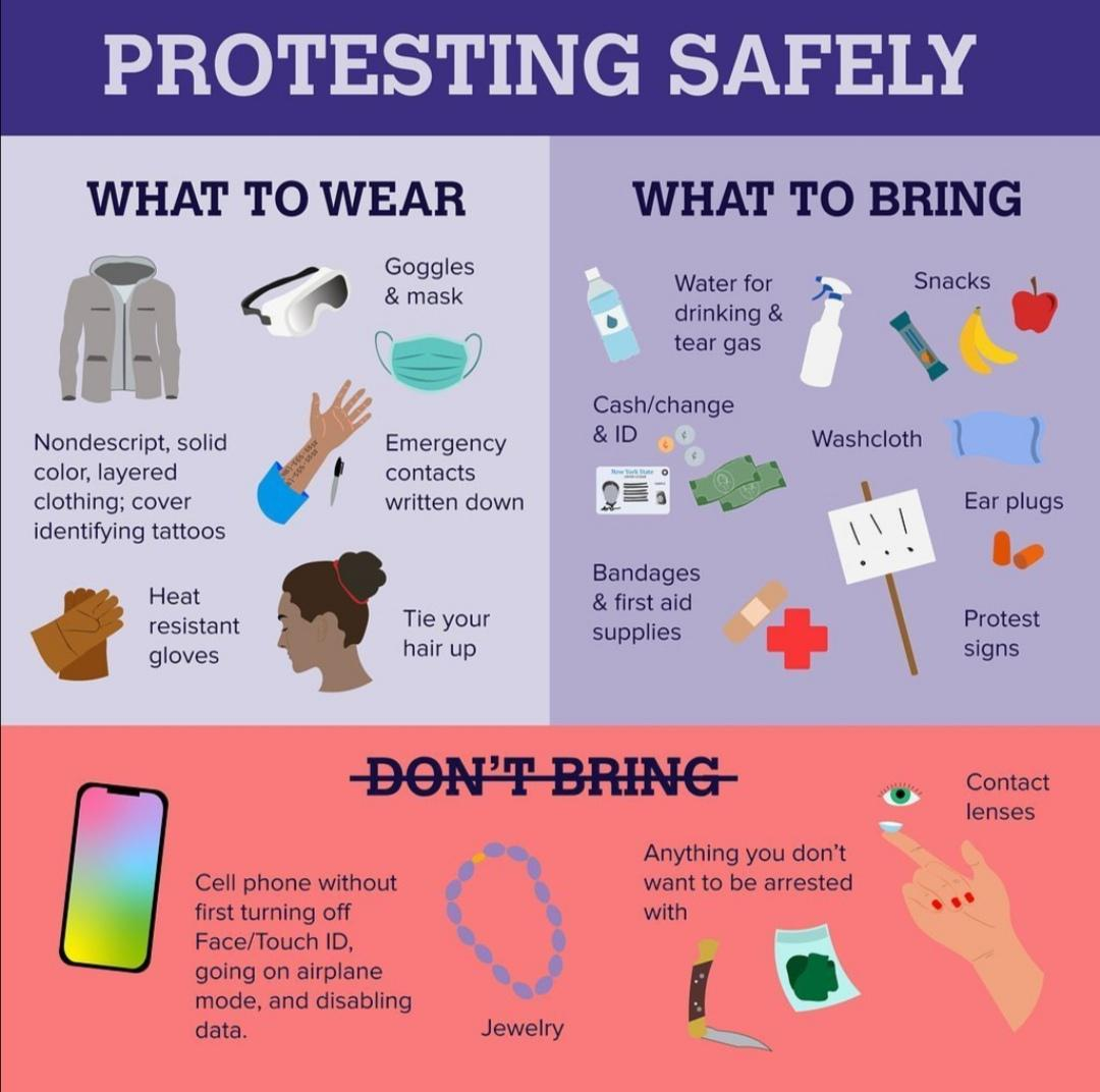 Safe Protesting Tips